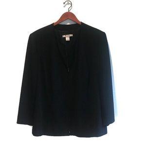 Nygard Blazer (PLUS SIZE) zip front,classic black